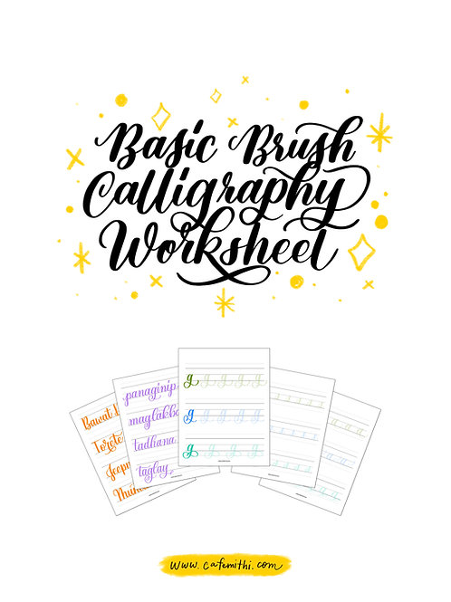 Digital Brush Calligraphy Practice Sheets