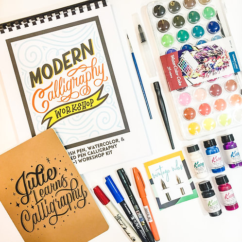 PACKAGE 3: Modern Calligraphy Workshop Kit