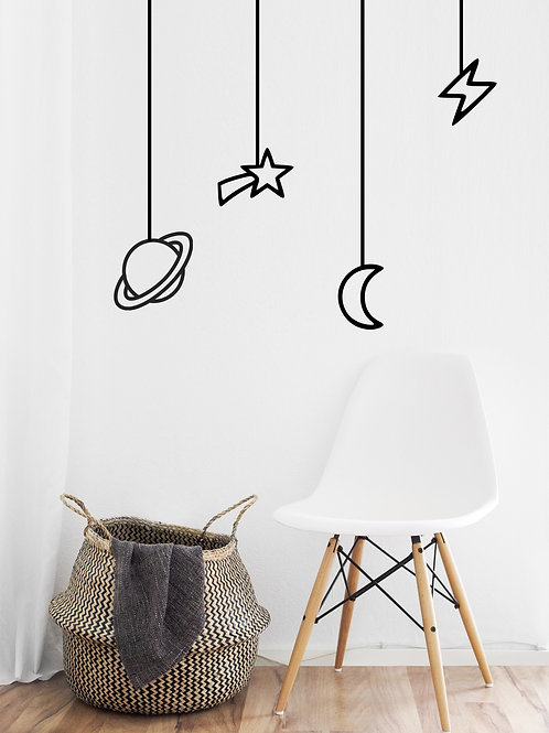 Black Print Wall Decals