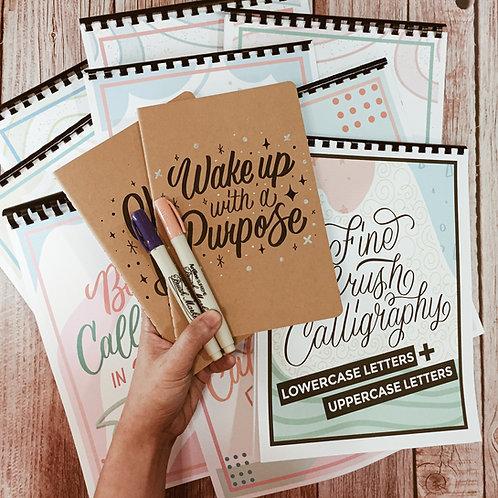 PACKAGE 4: Brush Calligraphy Kit