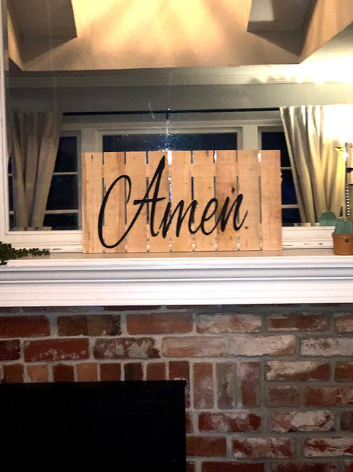 Gallery Wall Amen Sign