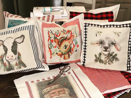 12x12 Handmade Throw Pillow