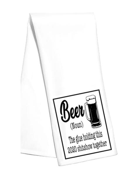 Beer The Glue Tea Towel