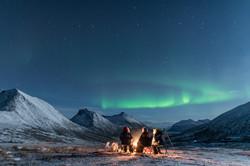 Aurora in Winter Wonderland