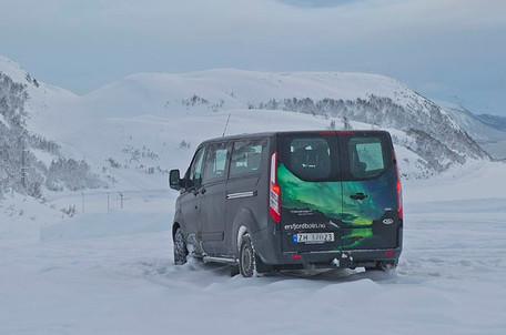 The tour van of The Green Adventure in Tromsø.