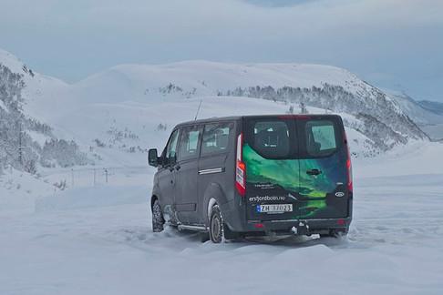The tour van of The Green Adventure in Tromsø.