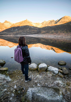 Lake in the Kattfjord Valley on Kvaløya - seen during Discover the Fjords of Kvaløya tour with The Green Adventure.