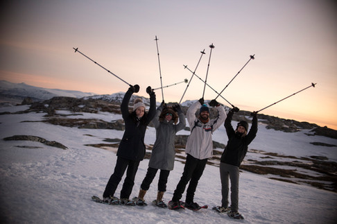 Snowshoeing tour near Tromsø - on tour with The Green Adventure.