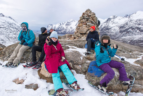 Snowshoeing near Tromsø - on tour with The Green Adventure.