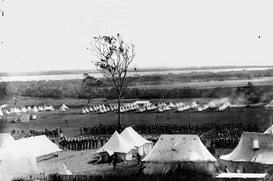 Encampment at Fort Lytton c1887