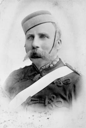 Captain Boyd, Brisbane Garrison Battery, c1890