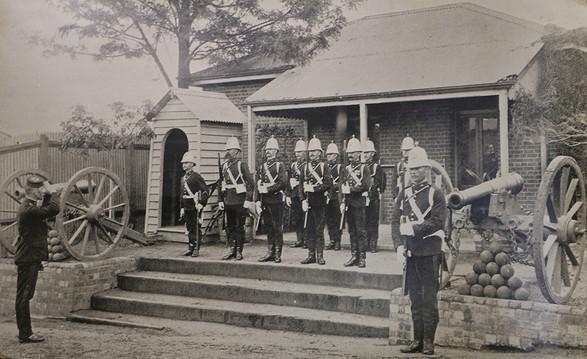 Main guard Victoria Barracks, 1897