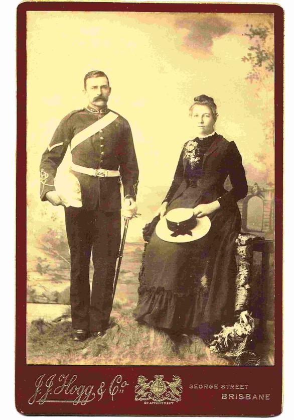 Bombardier and wife, Queensland Artillery