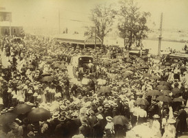 Ambulance wagon in the Commonwealth Day procession 1901