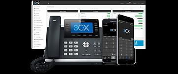 3CX-dashboard-and-yealink-handset-1-1024