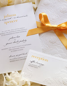 Yellow Ribbon Wedding Invitation