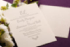 Floral Back Wedding Invitation
