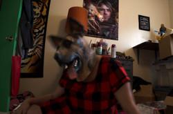 girl in her room- head tilt