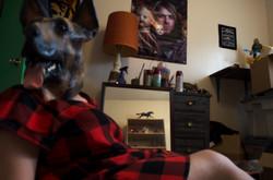 girl in her room- recline