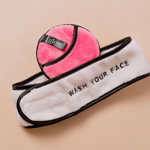 """Wash your face"" Headband + Washcloth"