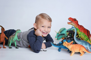 Dino-rawr! | 4 Year Session | Manitowoc Childrens Photographer