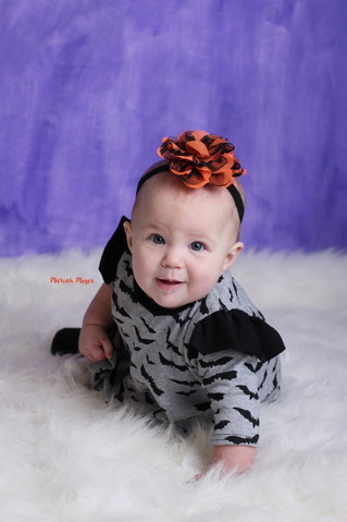 Boo! Halloween 6 Month Milestone Session | Manitowoc Childrens Photographer