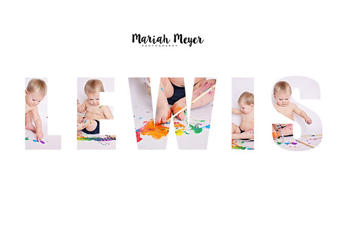 Child's Name Collage