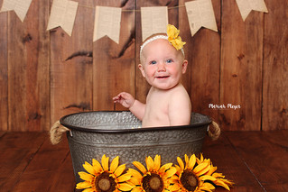 9 Month Fun! Sunflowers | Manitowoc Childrens Photographer