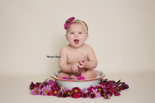 Milk Bath | 9 Month Milestone | Manitowoc Childrens Photographer