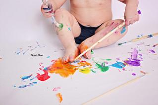 Painting Fun! | Manitowoc Childrens Photographer