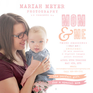 Mom and Me Mini Sessions! | Just in time for Mothers Day! | Book Now!