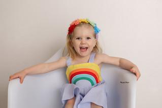 Rainbows and Giggles! | Manitowoc Children's Photographer