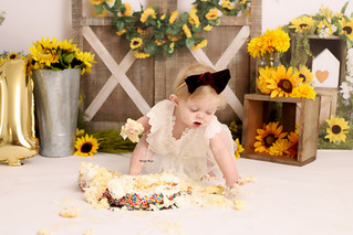 Sunflowers and Cake! | Manitowoc Childrens Photographer