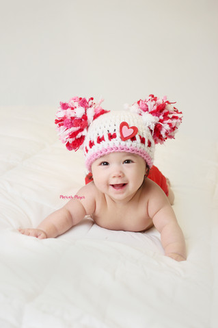 Valentines Fun | 6 Month Milestone | Manitowoc Childrens Photographer