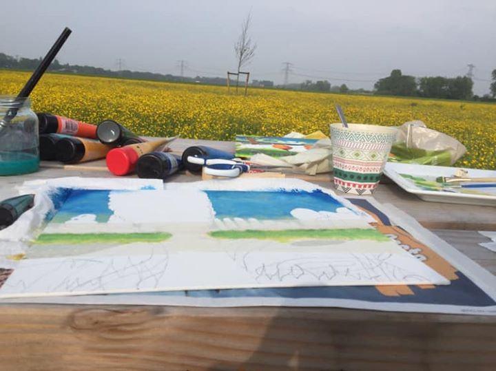 Schilderen in Nieuwe Dordtse Biesbosch