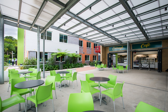School Cafe Outdoor Seating Area