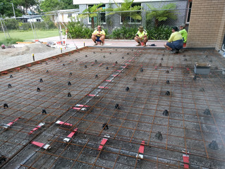 Preparing for a concrete pour when the weather is hot...