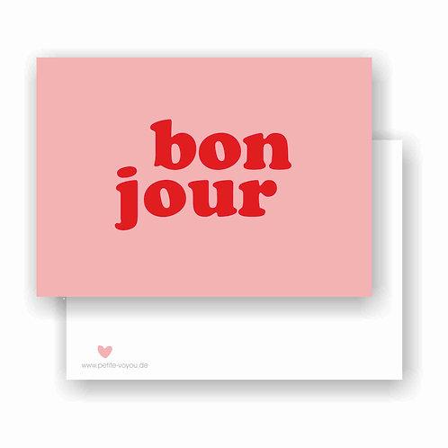 bonjour // Postkarte