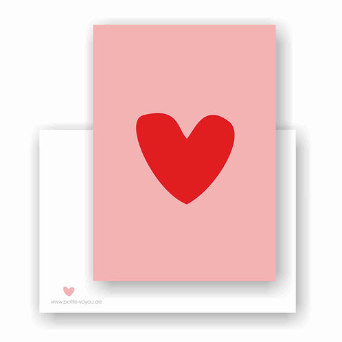 heart rosarot // Postkarte