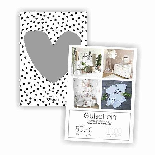 GUTSCHEIN // 50€