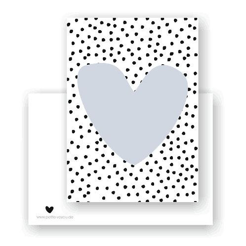 point heart blue // Postkarte