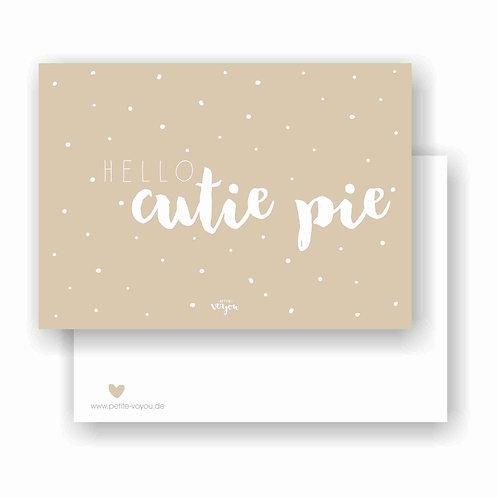 cutie pie taupe // Postkarte