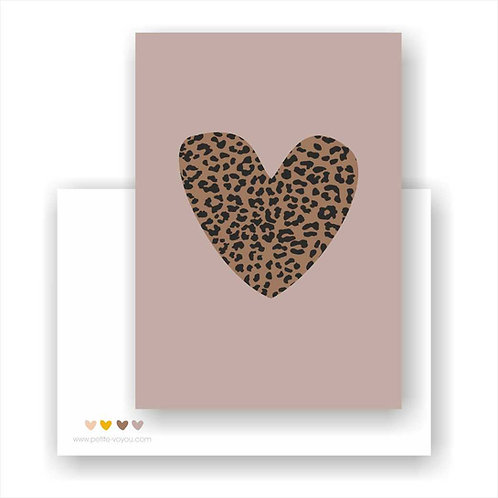 leo heart // Postkarte