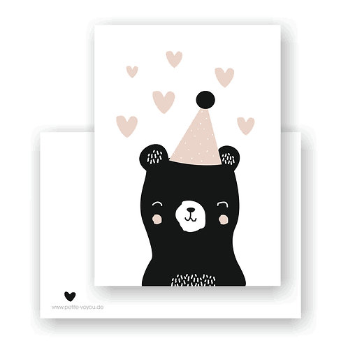 hat bear  // Postkarte