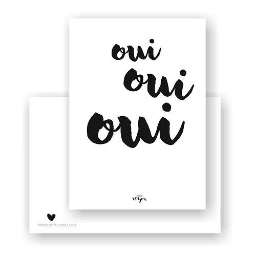 oui oui oui // Postkarte