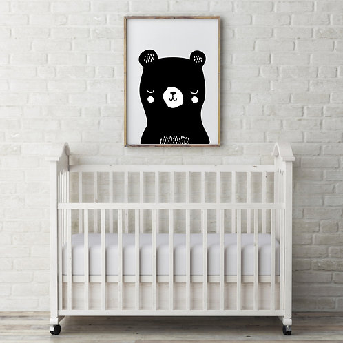 black sleepy bear // Poster
