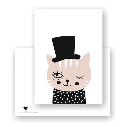 hat cat  // Postkarte