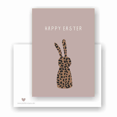EASTER leo bunny // Postkarte