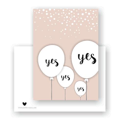 YES YES YES // Postkarte