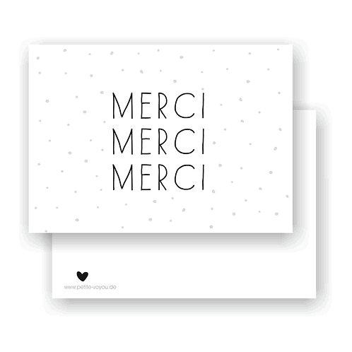 MERCI // Postkarte
